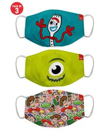 Bon Organik Set Of 3 Toy Story Fun Printed Protective Masks - Multicolor