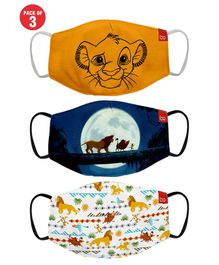 Bon Organik Set Of 3 Lion King Printed Protective Masks - Multicolor