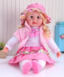 ToyMark Musical Fashion Doll Light Pink - Height 34.5 cm
