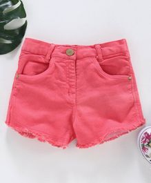 Little Kangaroos Semi Elasticated Waist Shorts -Pink