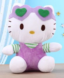 Hello Kitty Soft Toy White & Purple - Height 22 cm