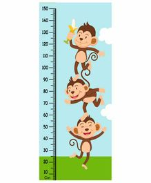 WENS Dancing Monkeys Height Measurement Removable Wall Sticker
