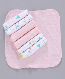 Ohms Hand & Face Towels Pack of 7 - Pink