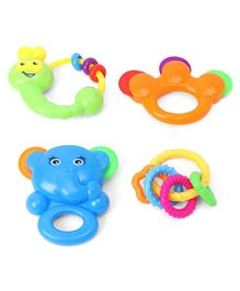 House of Kids Baby Rattles Pack of 4 - Multicolour