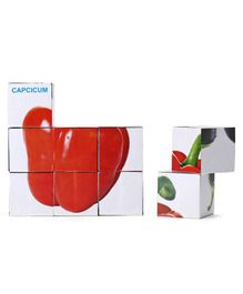 Kids Zone Block Vegetable  Puzzle Multicolor - 9 Pieces
