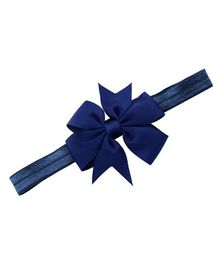 Bellazaara Boutique Satin Ribbon Bow Headband - Navy BlueBlue