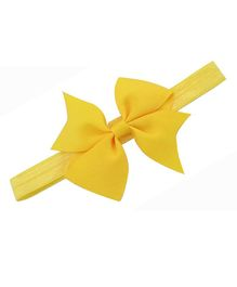 Bellazaara Boutique Satin Ribbon Bow Headband - Yellow