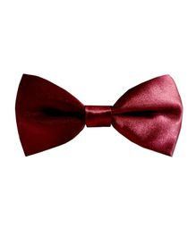 NEO NATIVES Solid Satin Bow Tie - Maroon