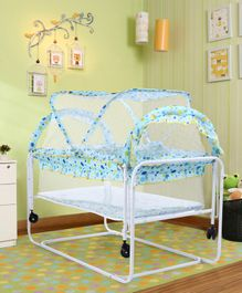 Baby Cradle with Mosquito Net - Blue