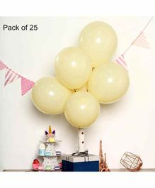 Funcart Pastel Balloons Yellow - Pack of 25