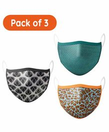 Hugsnug 3 Layer Kids Masks Assorted - Pack of 3