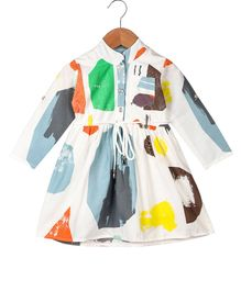 My Meo Full Sleeves Printed Dress - Multicolor