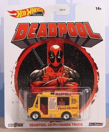 Hot Wheels Deadpool Die Cast Free Wheel Chimichanga Truck - Yellow