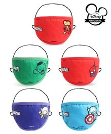 Marvel Kids Face Masks Multicolour - Set of 5