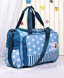 Diaper Bag with Changing Mat Polka Dots - Blue