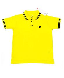 Hop n Jump Solid Half Sleeves Polo Tee - Yellow