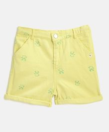 Nauti Nati Cartoon Printed Shorts - Yellow