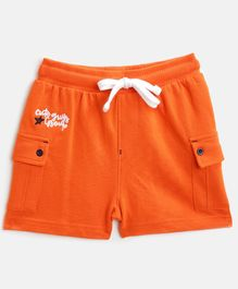 Nauti Nati Letter Embroidery Detailing Shorts - Orange