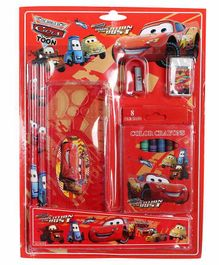 Funcart Stationery Set Red Pack of 1 - 13 Pieces