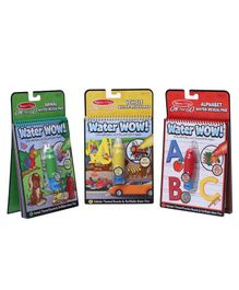 Melissa and Dough Water Wow Coloring Book Set of 3 - English