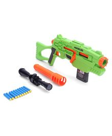 Buzz Bee Air Warrior Master Tek Blaster Toy Gun with Darts & Scope - Green