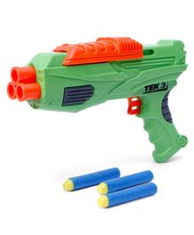 Buzz Bee Air Warriors Ultra Tek Dart Gun with 3 Darts - Green Orange