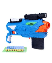 Buzz Bee Air Warrior Night Assault Super Blaster with Darts - Blue Orange