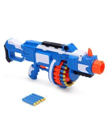 Buzz Bee Air Warrior Motorized Blaster Toy Gun - Blue