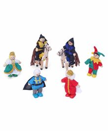 Melissa and Doug Castle Wooden Figure Set of 8 Multicolor - Height 9 cm