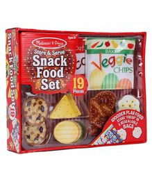 Melissa & Doug Store & Serve Wooden Snack Food Set Play - 19 Pieces