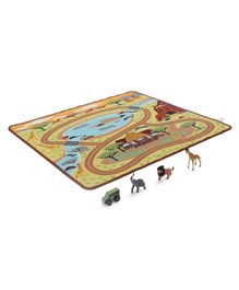 Melissa & Doug Safari Rug with Toys - Multicolor