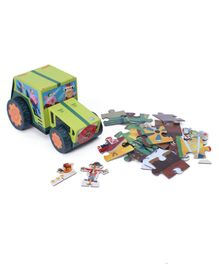 Crocodile Creek Farm Truck Jigsaw Puzzle and Vehicle Play Set Multicolor - 24 Pieces