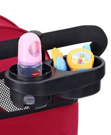 2 in 1 Snack Tray & Cup Holder - Black