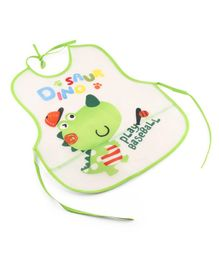 Alpaks Kid's Apron With Pocket Dinosaur Print - Green