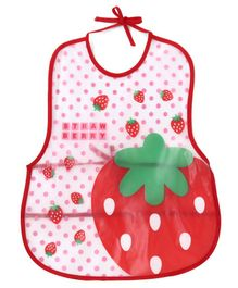 Alpaks Kid's Apron Strawberry Print - Red