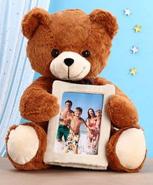 Chun Mun Stuff Teddy Bear with Inbuilt Photo Frame Soft Toy Brown - Height 40 cm