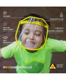 Maker's Asylum Baby Pack Of 3 Face Shields - Yellow