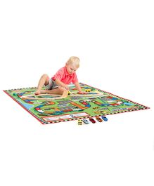 Play Mat with Cars - Multicolor