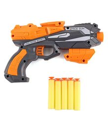 Toy Gun With Soft Bullets - Grey Orange