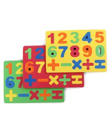 Number Puzzle Multicolor - 3 Mats