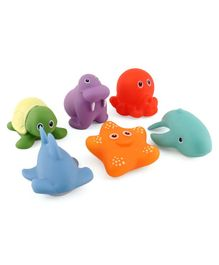 Bath Toys Pack of 6 - Multicolor