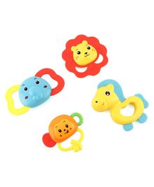 Animal Shaped Rattle Set Pack of 4 - Multicolor