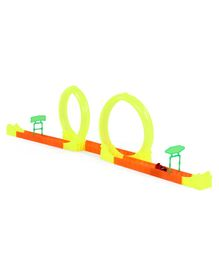 Race Track Set with Motorcycle - Multicolour