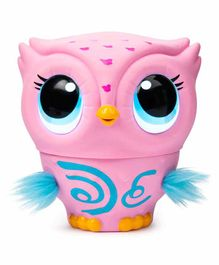Owleez Interactive Toy with Lights & Sounds - Pink