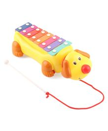 Pull Along Dog Shaped Xylophone Toy - Multicolored