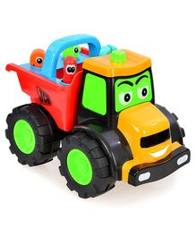 JCB Free Wheel Bulldozer Toy Vehicle - Multicolor