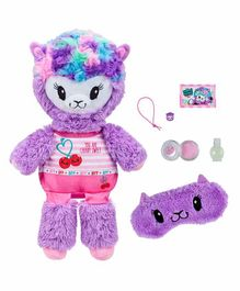 Pikmi Pops Llama Soft Toy with Accessories Purple - Height 28.5 cm