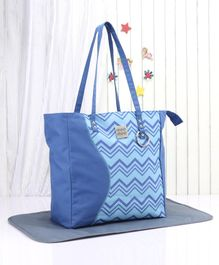 Mee Mee Diaper Bag With Changing Mat - Blue Grey