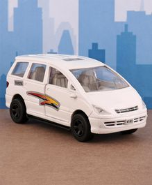 Shinsei Pull Back Innova Estima Toy Car - White