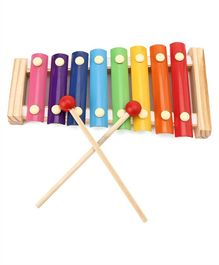 Tinykart Wooden 8-Notes Xylophone - Multicolour